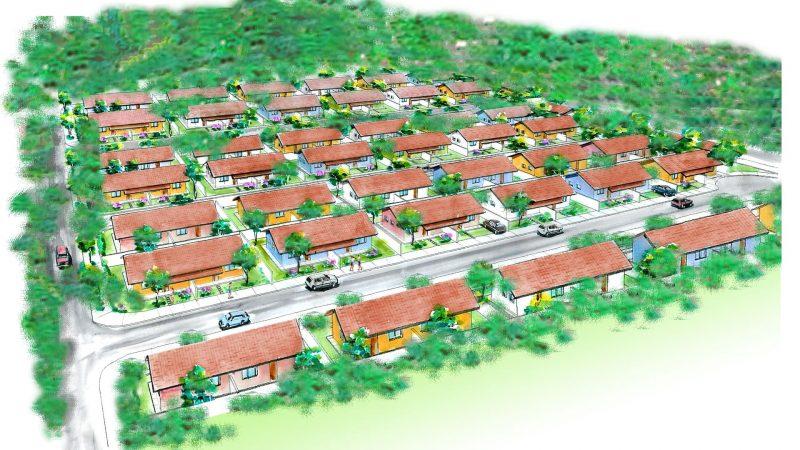 Projeto para bairro de casas populares em Seropédica.